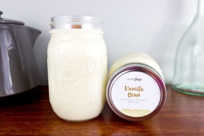 Vanilla Bean Soy Candle in Pint Mason Jar